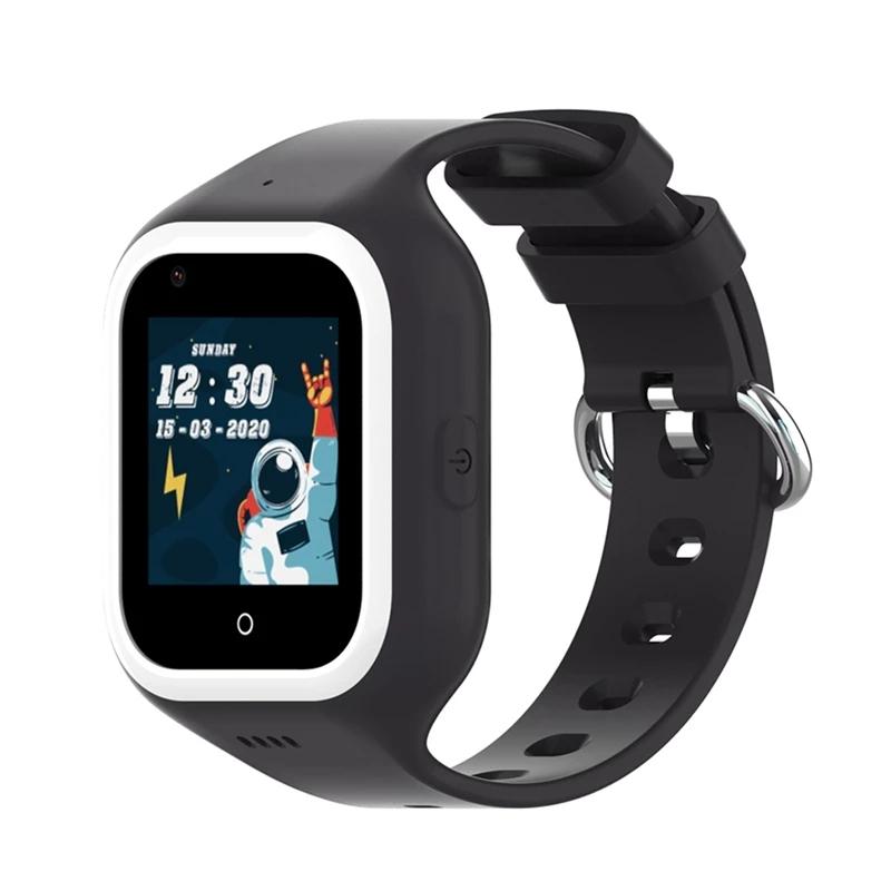 Ceas smartwatch GPS copii Techone™ KT21 4G, 1.4 inch OGS, apel video, camera ultrapixel, Wi-Fi, rezistent la apa IP67, telefon, bluetooth, SOS, touchscreen, monitorizare spion, carcasa detasabila, Negru