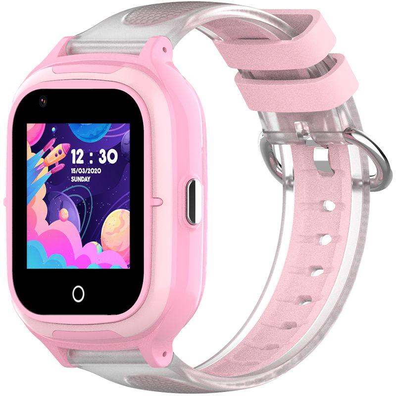 Ceas smartwatch GPS copii Techone™ KT23 4G, 1.4 inch OGS, apel video, camera ultrapixel, Wi-Fi, rezistent la apa IP67, telefon, bluetooth, SOS, touchscreen, monitorizare spion, carcasa detasabila, Roz
