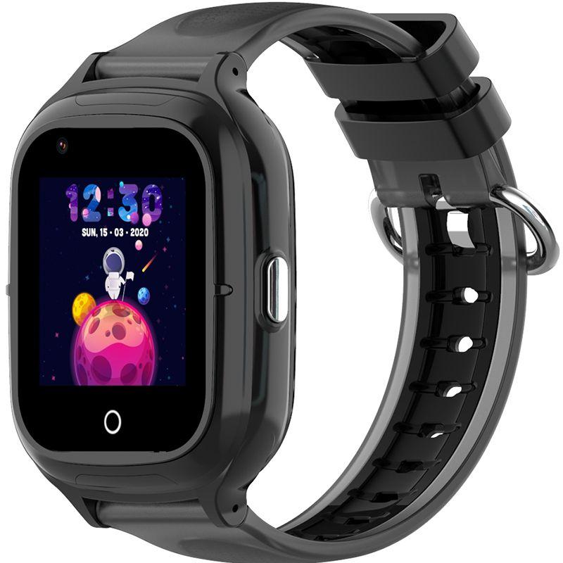 Ceas smartwatch GPS copii Techone™ KT23 4G, 1.4 inch OGS, apel video, camera ultrapixel, Wi-Fi, rezistent la apa IP67, telefon, bluetooth, SOS, touchscreen, monitorizare spion, carcasa detasabila, Negru