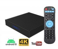 Resigilat Mini PC TV Smart Box Runmus® X9 H616 Amlogic, Android 10, 6K, dual WI-FI, Quad core ARM Cortex-A53, tehnologie HDR, DDR3 4GB RAM, HDMI, memorie 32GB, BT 4.1, display, nstalare aplicatii PlayStore, Youtube, Netflix, filme, seriale, negru