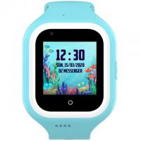 Ceas smartwatch GPS copii Techone™ KT21 4G, 1.4 inch OGS, apel video, camera ultrapixel, Wi-Fi, rezistent la apa IP67, telefon, bluetooth, SOS, touchscreen, monitorizare spion, carcasa detasabila, Albastru
