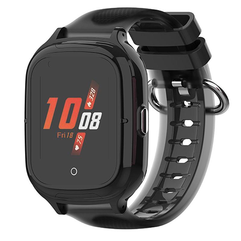 Ceas smartwatch GPS copii Techone™ TKY-A19 4G, 1.4 inch OGS, apel video, camera HD, buton SOS, bluetooth, wifi, rezistent la apa, blocare apel, monitorizare spion, negru