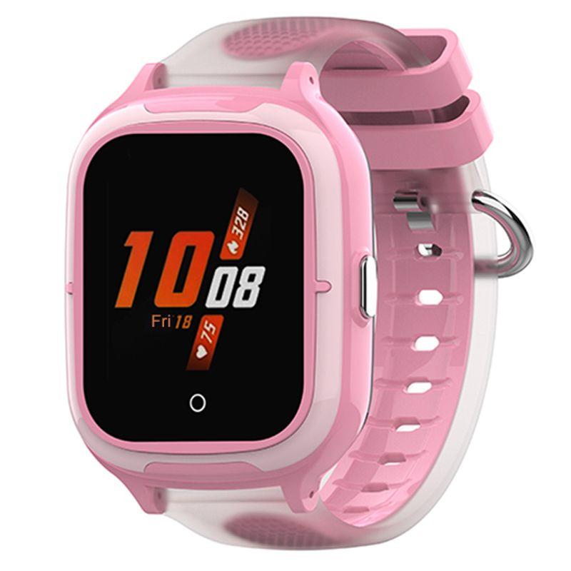 Ceas smartwatch GPS copii Techone™ TKY-A19 4G, 1.4 inch OGS, apel video, camera HD, buton SOS, bluetooth, wifi, rezistent la apa, blocare apel, monitorizare spion, roz