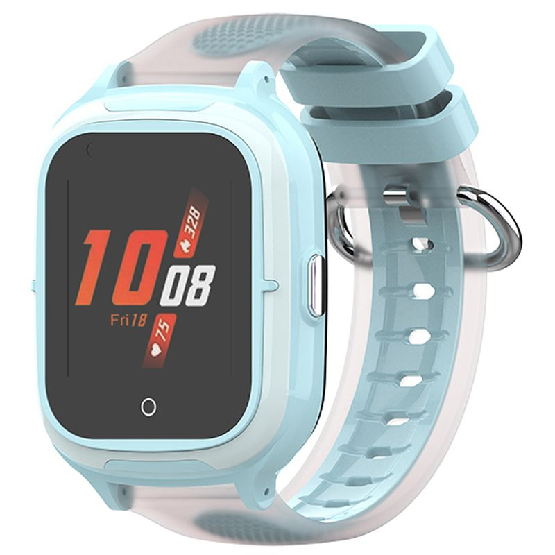 Ceas smartwatch GPS copii Techone™ TKY-A19 4G, 1.4 inch OGS, apel video, camera HD, buton SOS, bluetooth, wifi, rezistent la apa, blocare apel, monitorizare spion, albastru