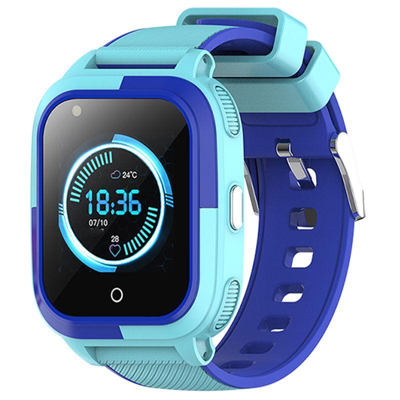 Ceas smartwatch GPS copii Techone™ TKY T58 4G, 1.4 inch, apel video, camera HD, Android, buton SOS, bluetooth, wifi, rezistent la apa, blocare apel, monitorizare spion, albastru