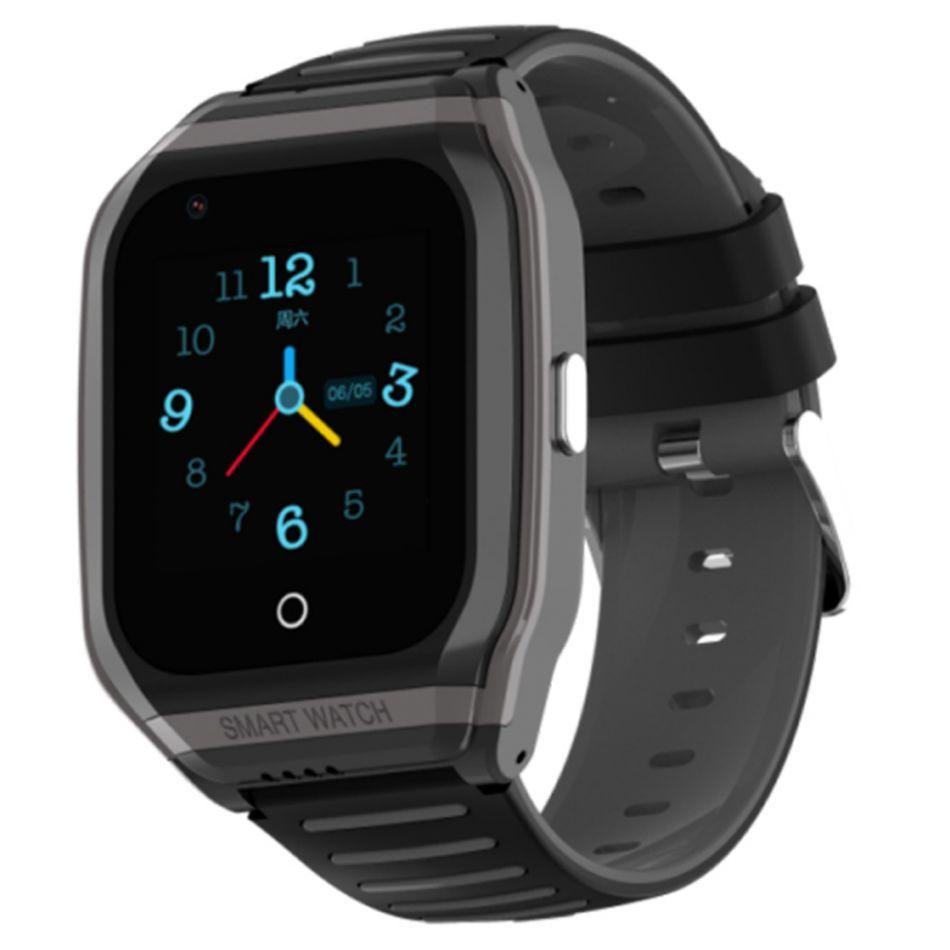 Ceas smartwatch GPS copii Techone™ TKY FG02 4G, 1.4 inch, apel video, camera HD, Android, buton SOS, bluetooth, wifi, rezistent la apa, blocare apel, monitorizare spion, negru