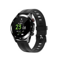 Ceas smartwatch TechONE™ E12, 1.3 inch IPS, multi sport, apel bluetooth, ritm cardiac, oxigen, rezistent la apa, notificari, senzor Bosch, multi sport, negru