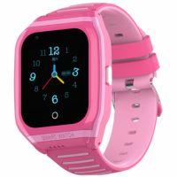Ceas smartwatch GPS copii Techone™ TKY FG02 4G, 1.4 inch, apel video, camera HD, Android, buton SOS, bluetooth, wifi, rezistent la apa, blocare apel, monitorizare spion, roz