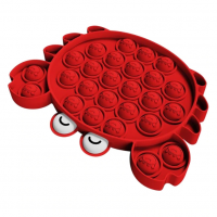 Jucarie antistres din silicon JAF®, Pop it now, forma crab, 12.5 cm, rosu