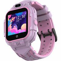 Ceas smartwatch GPS copii Techone™ KT16 4G, 1.4 inch IPS, apel video, camera ultrapixel, Wi-Fi, rezistent la apa IP67, telefon, bluetooth, SOS, touchscreen, monitorizare spion, Roz