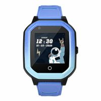 Ceas smartwatch GPS copii Techone™ KT20 4G, 1.4 inch OGS, apel video, camera ultrapixel, Wi-Fi, rezistent la apa IP67, telefon, bluetooth, SOS, touchscreen, monitorizare spion, carcasa detasabila, Albastru