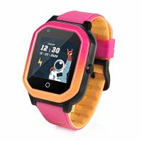 Ceas smartwatch GPS copii Techone™ KT20 4G, 1.4 inch OGS, apel video, camera ultrapixel, Wi-Fi, rezistent la apa IP67, telefon, bluetooth, SOS, touchscreen, monitorizare spion, carcasa detasabila, Roz
