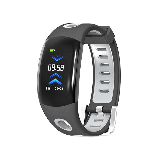 Bratara fitness TechONE® DM11, ecran color 3D curbat, IP68, puls dinamic Bosch, management somn, stand by 10 zile, notificari, negru