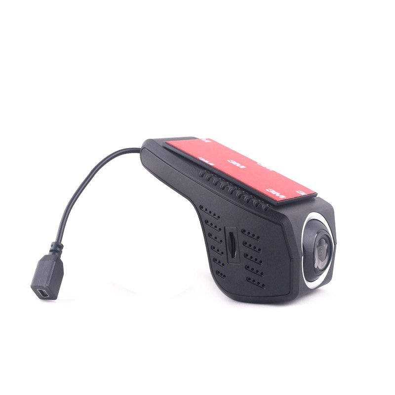 Camera auto DVR TechONE™ RoadTeam A4D, Full HD 30fps, night vision, unghi de filmare 170 grade, tehnologie WDR, negru