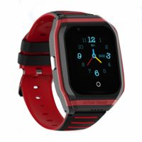 Ceas smartwatch GPS copii Techone™ TKY FG02 4G, 1.4 inch, apel video, camera HD, Android, buton SOS, bluetooth, wifi, rezistent la apa, blocare apel, monitorizare spion, negru/rosu