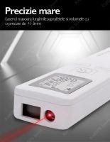 Telemetru laser Thinrad® D35, 35m, ultraportabil, display, acuratete +/- 3mm, calcul suprafata, volum, alb