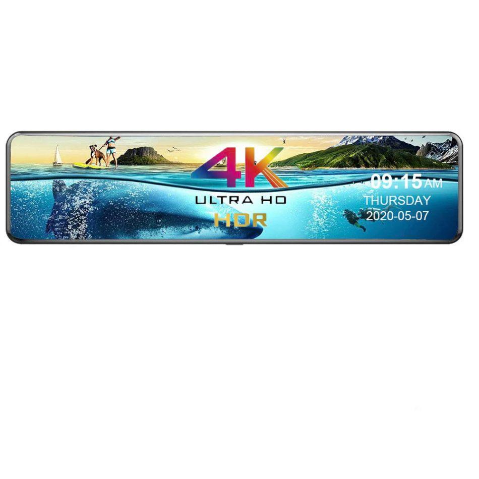 Camera auto oglinda dubla DVR Loosafe™ RoadTeam T2, 4K Ultra HD, chipset Sony, 12 inch, senzor parcare, 170 grade, camera marsarier, ADAS, WDR, negru