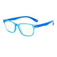 Ochelari de protectie calculator, Techone® F8140, din silicon, flexibili, blocare lumina albastra, pentru jocuri, PC, TV , anti-oboseala si strlucire UV, pentru copii, albastru