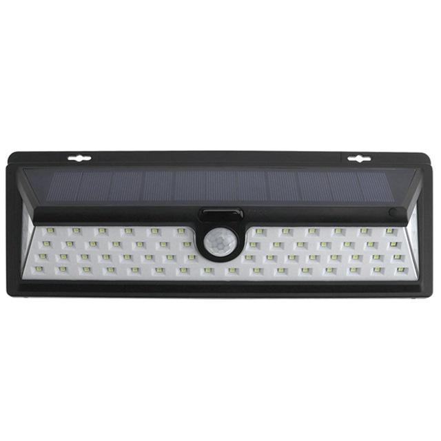 Lampa solara Huerler™ 66 LED-uri, 900 lumeni, senzor de miscare si lumina, 2x2200mAh, negru + bratara fitness
