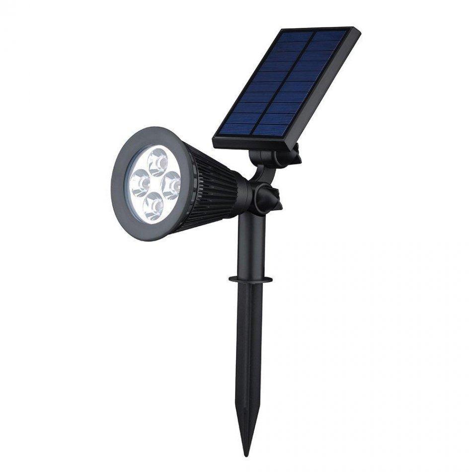 Lampa solara Huerler™ 4LED-uri, cu picior, 330 lumeni, senzor de miscare si lumina, 2200mAh, negru