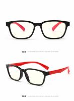 Ochelari de protectie calculator, Techone® F8140, din silicon, flexibili, blocare lumina albastra, pentru jocuri, PC, TV , anti-oboseala si strlucire UV, pentru copii, negru/rosu