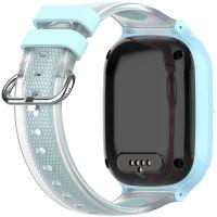 Ceas smartwatch GPS copii Techone™ KT23 4G, 1.4 inch OGS, apel video, camera ultrapixel, Wi-Fi, rezistent la apa IP67, telefon, bluetooth, SOS, touchscreen, monitorizare spion, carcasa detasabila, Albastru
