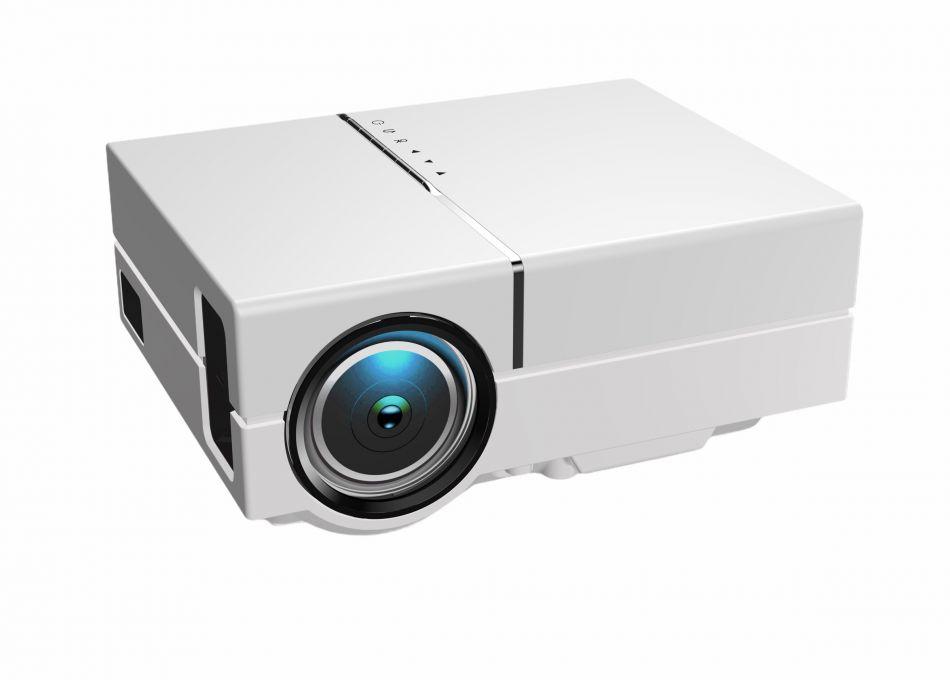 Videoproiector Loosafe® YG450, portabil, 5000 lumeni, LED, HDMI,  VGA, AV, USB, SD, difuzor incorporat, telecomanda, alb