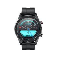 Ceas smartwatch TechONE™ KM02, 1.28 inch HD TFT, multi sport, ritm cardiac, oxigen, temperatura, rezistent la apa, cadran inter-schimbabile incluse, notificari, senzor Bosch, negru