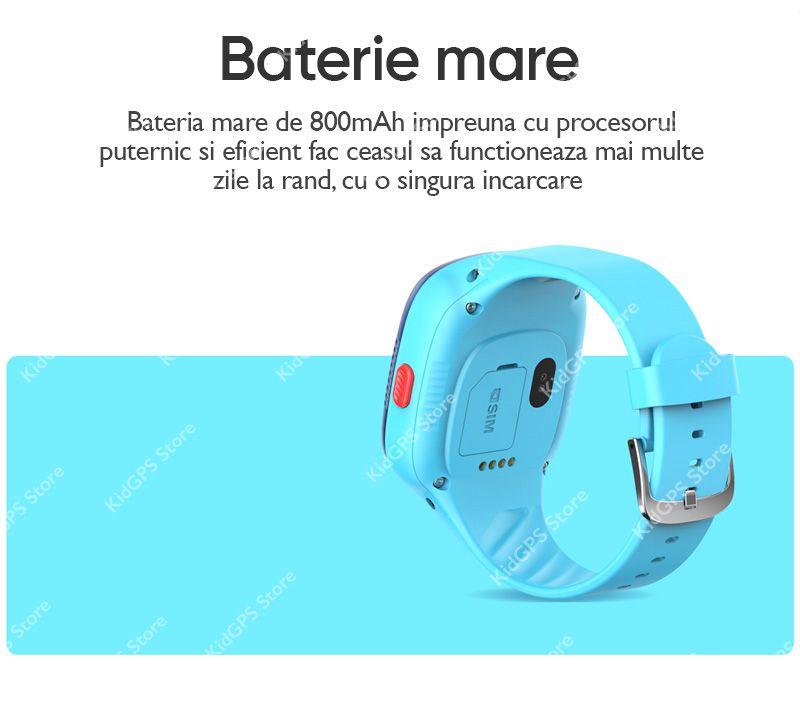 Ceas smartwatch GPS copii Techone™ LT06 4G,, apel video, camera HD, Android, buton SOS, bluetooth, WIFI, rezistent la apa, blocare apel, monitorizare spion, Roz
