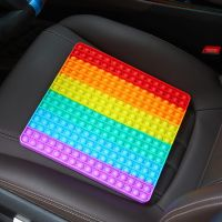 Jucarie antistres, din silicon JAF®, Pop it Now, patrat, mare 40x40 cm, 400 de bule, multicolor