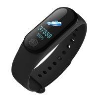 Bratara fitness TechONE™ M3, HD Color, puls dinamic, tensiune, multi sport, rezistenta la apa ip67,  negru