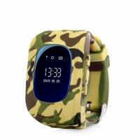 Ceas smartwatch copii GPS Techone™ Q50 Camo cu functie telefon, buton SOS si monitorizare spion, Galben Camo