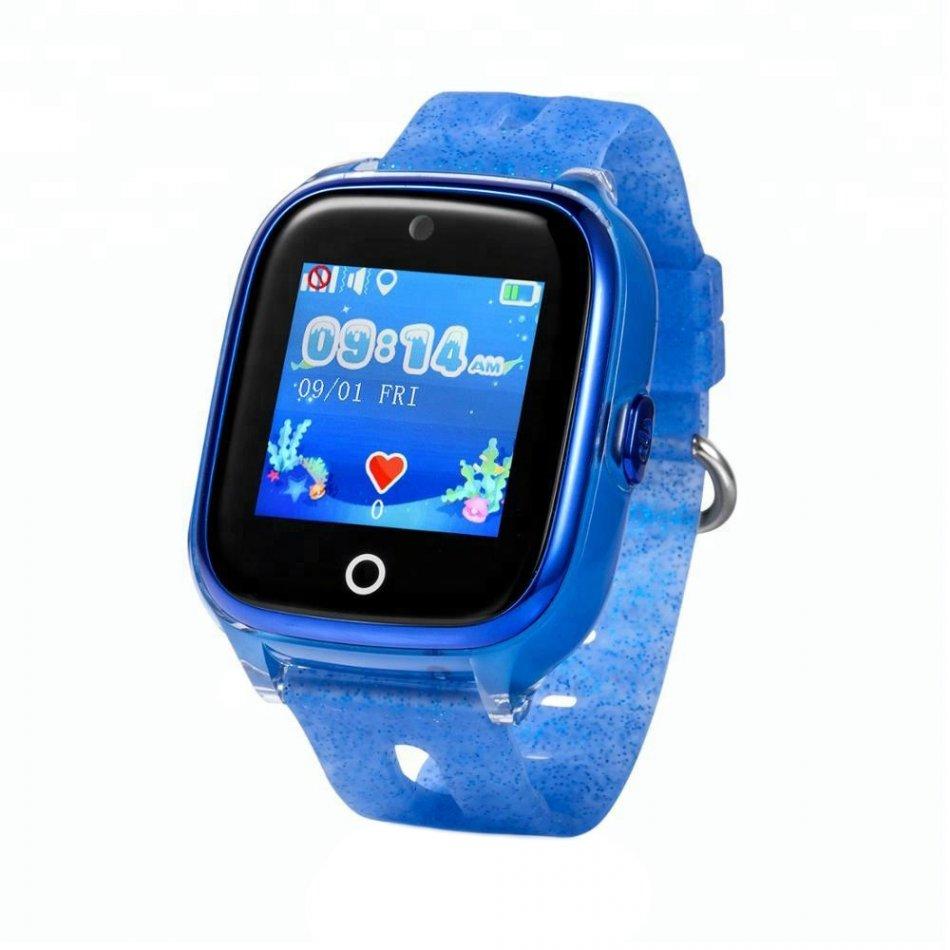Ceas smartwatch copii cu GPS TechONE™ KT01, WiFi + localizare foto, submersibil, telefon, buton SOS, Albastru