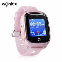 Ceas smartwatch copii cu GPS TechONE™ KT01, WiFi + localizare foto, submersibil, telefon, buton SOS, Roz