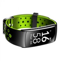 Bratara fitness TechONE™  Q8S, color, heart rate, tensiune, management somn, OLED 0.96 inch, IP68 submersibilia, Negru/Verde