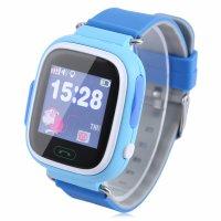 Ceas smartwatch GPS copii TechONE GW100, functie telefon, touchscreen, Bluetooth, pozitionare GPS+AGPS+WiFi+Beidou, Buton SOS, monitorizare spion, Albastru,