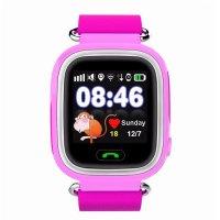 Ceas smartwatch GPS copii TechONE® GW100 Touch, functie telefon, touchscreen, Bluetooth, pozitionare GPS+AGPS+WiFi+Beidou, Buton SOS, monitorizare spion, Roz