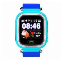 Ceas smartwatch GPS copii TechONE® GW100, functie telefon, touchscreen, Bluetooth, pozitionare GPS+AGPS+WiFi+Beidou, Buton SOS, monitorizare spion, SIM prepay cadou. Albastru