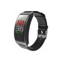 Bratara fitness TechONE™ CK11C, color, IP67, ritm cardiac, curea piele, stand by 15 zile, multi sport, pedometru, notificari, vibratii, negru