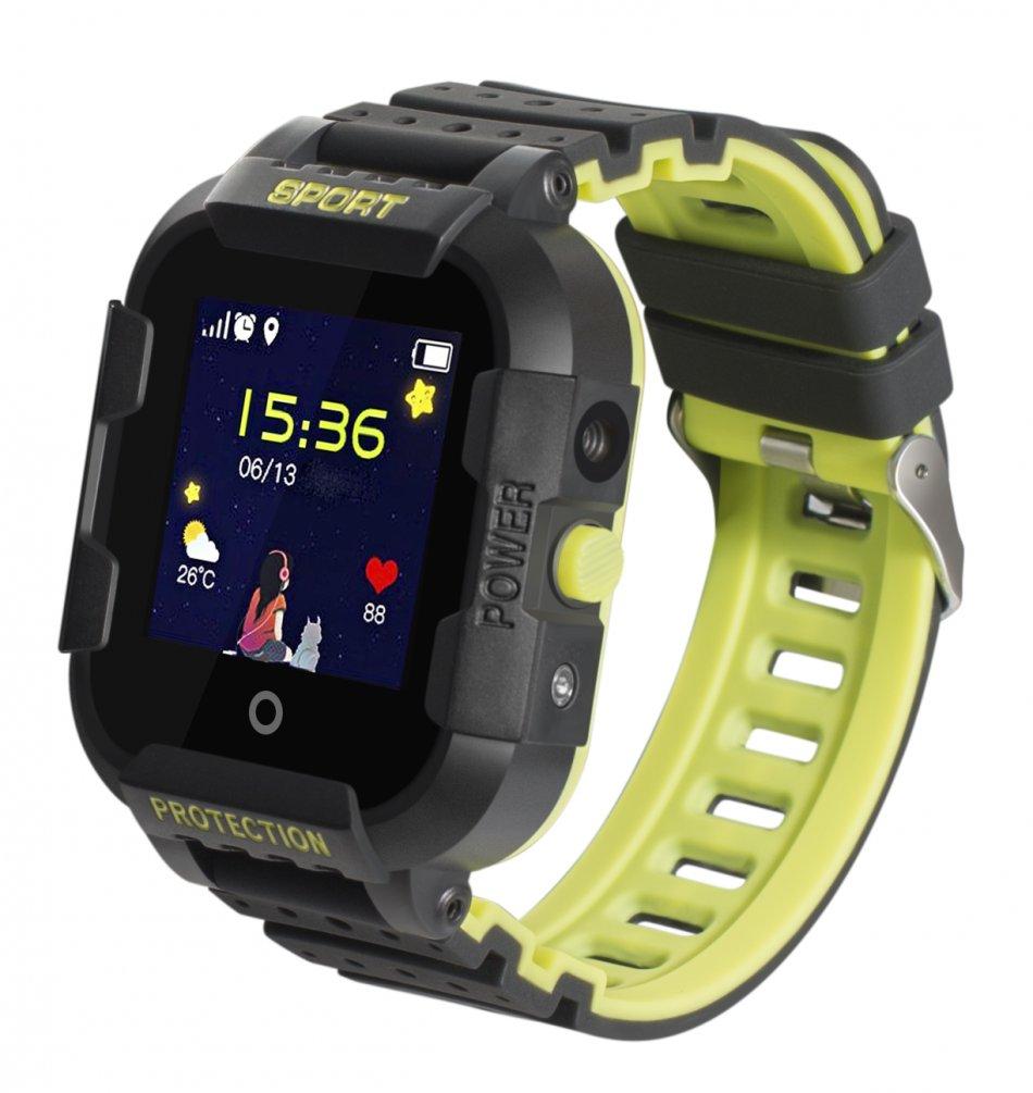 Ceas GPS copii TechONE™ KT03, rezistent la soc, WiFi, localizare foto, submersibil, telefon, SOS, Negru