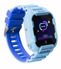 Ceas GPS copii TechONE™ KT03, rezistent la soc, WiFi, localizare foto, submersibil, telefon, SOS, Albastru