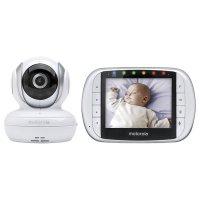 Baby Monitor WIFI Sricam™ SH026, sunet bidirectional, night vision, push to talk, rotire automata, senzor miscare, vizualizare live mai multe camere, alb, pachet bundle (Camera + Card 32GB)