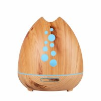 Umidificator KD Home™ SU-F01, 50m², purificator aer, difuzor, aromaterapie, ultrasunete, rezervor 400ml, 20-50 ml/h, maro
