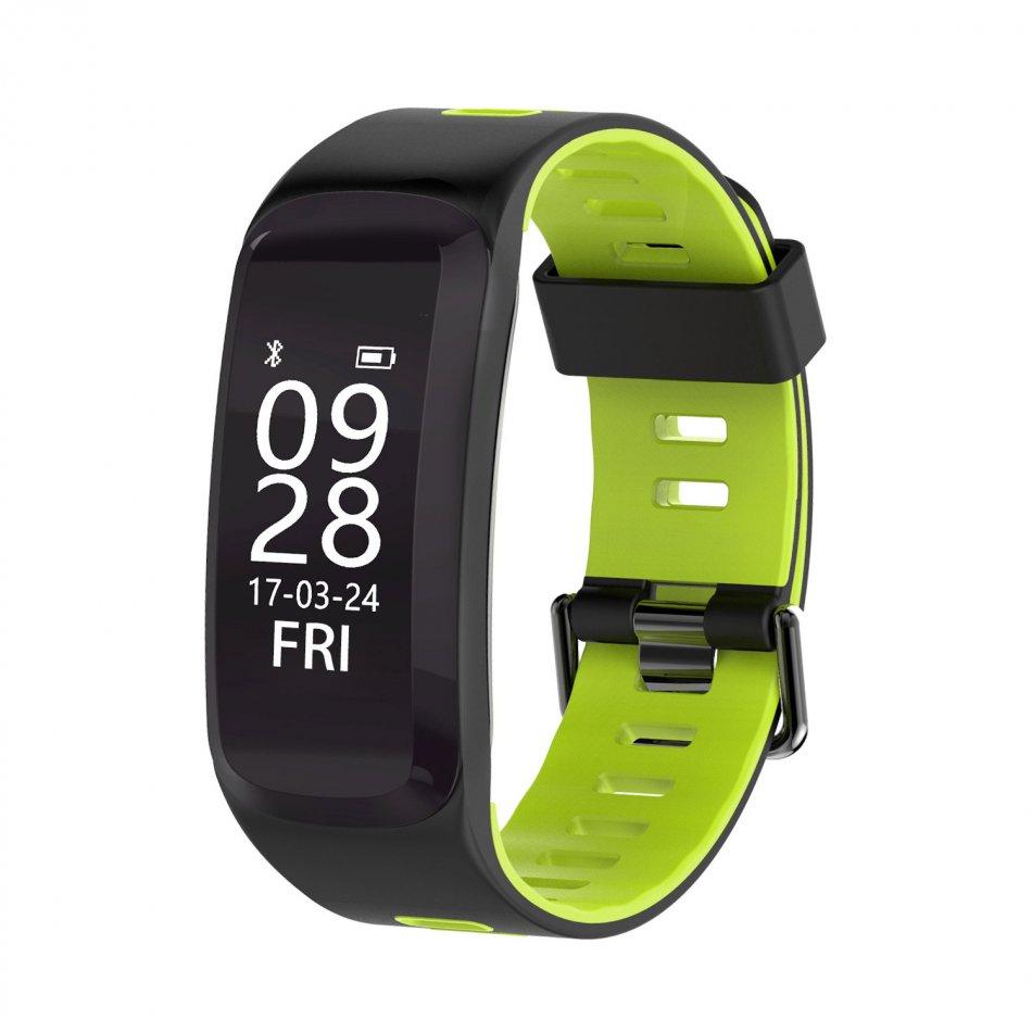 Bratara fitness TechONE™ F4 Pro Plus, IP68 submersibila, puls dinamic, tensiune, vremea, altitudine, UV index, Android, iOS, notificari, negru/gri