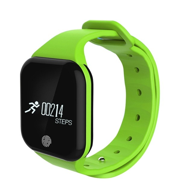 Bratara fitness TechONE™ X5S GetFit 2.0, puls, BT 4.0, OLED 1.26 inch,  notificari, temperatura, altitudine, barometru, verde