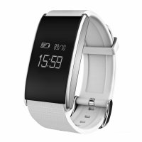 Bratara fitness TechONE™ FitGear A58,  BT 4.0, puls, tensiune, oxigen, nivel oboseala, stand-by 20 zile, Android, iOS, notificari, remote camera, alb