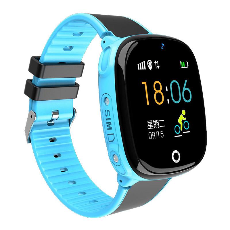 Ceas smartwatch copii TechONE® HW11, rezistent la apa, telefon, touch, localizare foto, pedometru, monitorizare spion, buton SOS, albastru