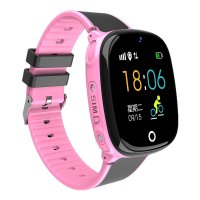 Ceas smartwatch copii KidGPS HW11, rezistent la apa, telefon, touch, localizare foto, pedometru, monitorizare spion, buton SOS, roz