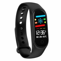 Bratara fitness TechONE™ M3, color, IP 65, multi sport, puls, tensiune, notificari, negru