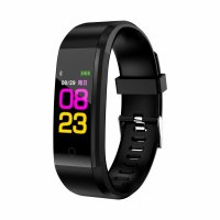 Bratara fitness TechONE™ ID115 Pro, color, multi sport, puls, tensiune, notificari, control camera foto, negru